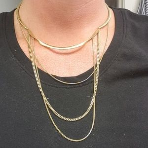 Stella & Dot Jewelry - Gold tone multi layer necklace